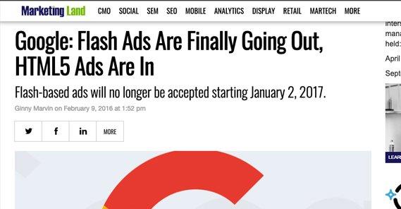 Google Kills Flash Ads