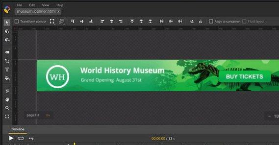 Google Web Designer Screenshot