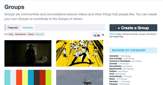 Vimeo Group Hub