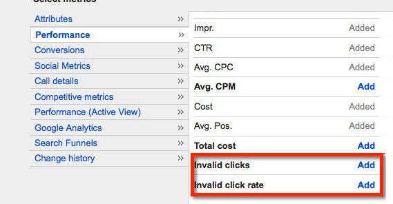 Google Invalid Clicks