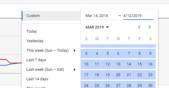Selecting Date Range