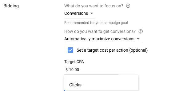 Target CPA Google Ads