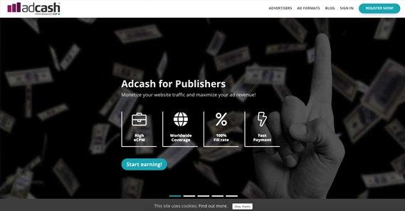AdCash Site