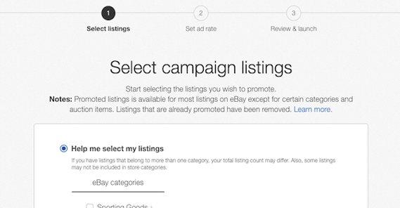 Selecting eBay Listings